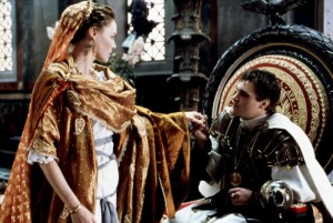 Commodus and Lucilla/sitting on the throne/K-I-S-...