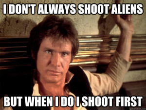 Technically Han's an alien, too. You get it, though.