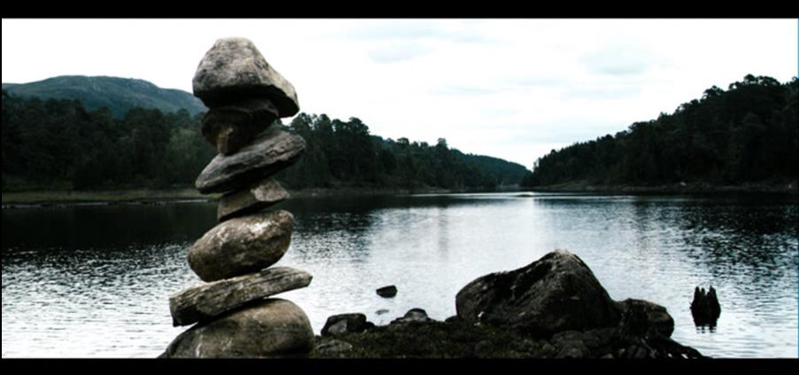 Maybe the first ever hippie rock cairn