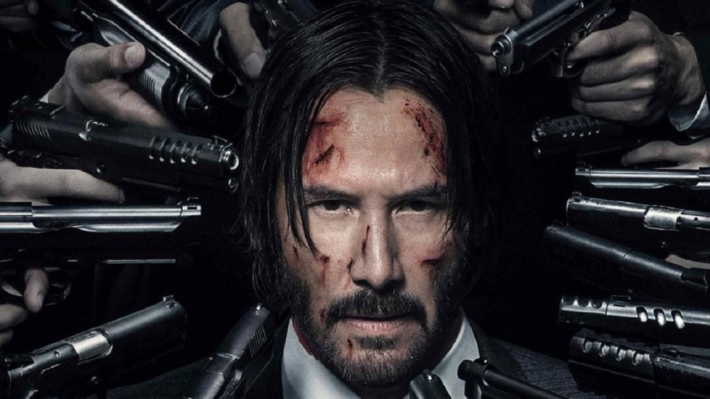 John Wick: Chapter 2 poster and John Wick's day to day.