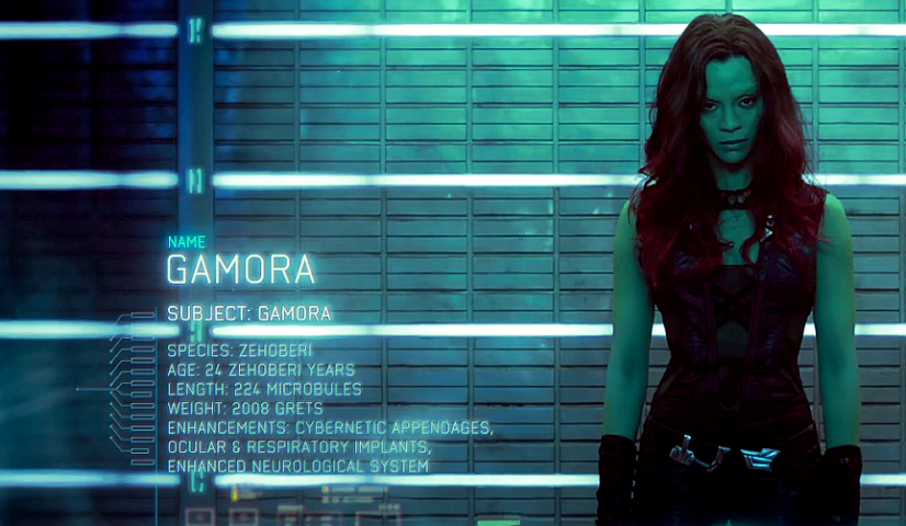 "It says ""Gamora"" but she could be Rihanna"