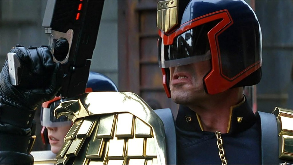 Get your sneer on, Dredd.