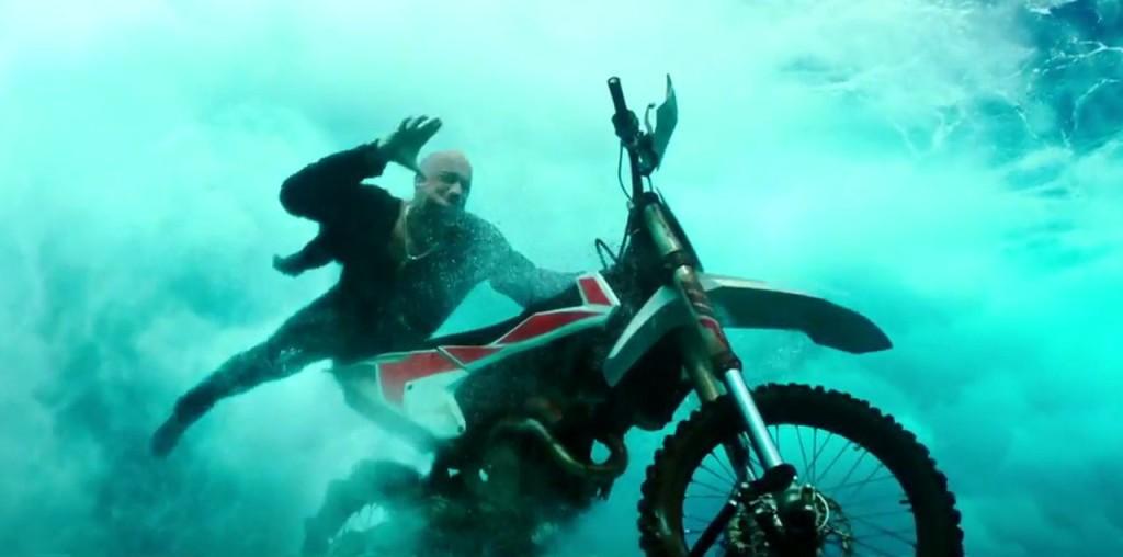 Underwater basket weaving? Nah. Underwater motorcycling.